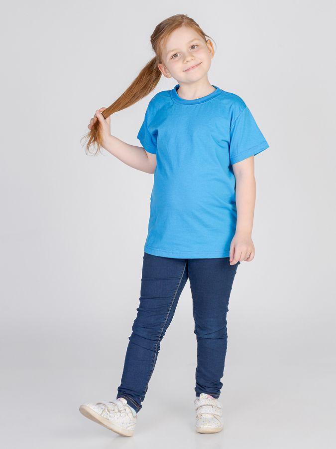 футболка детская без принта Синяя