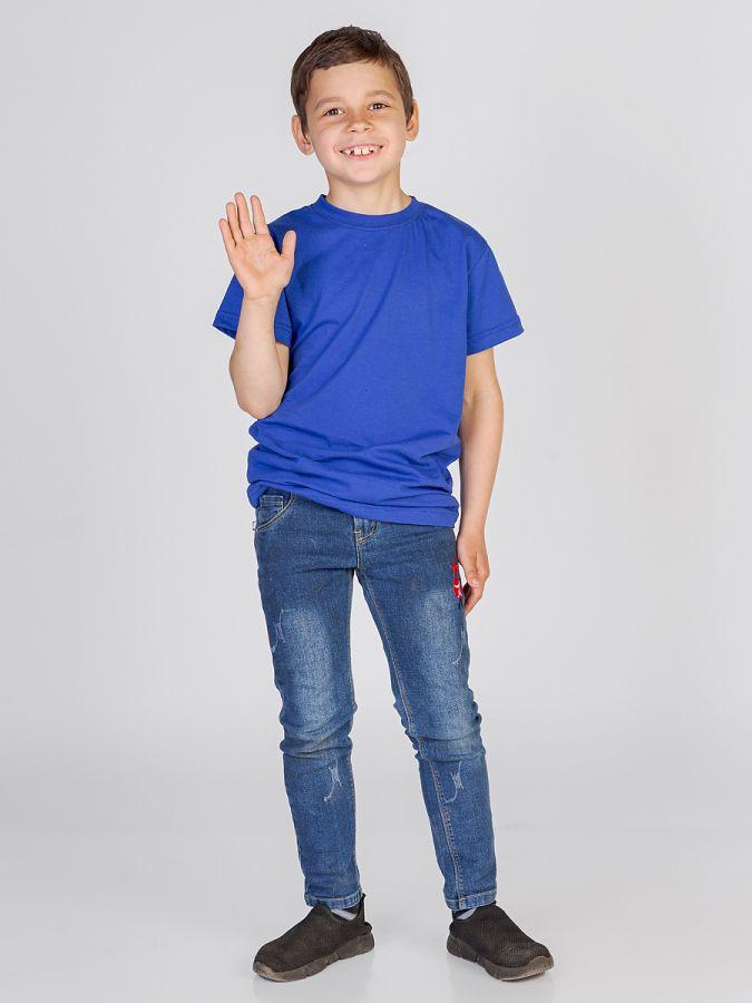 футболка детская без принта Темно синяя