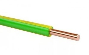 Провод ПВ1/ПуВ 1х6 (ГОСТ) желто-зеленый установ. медный жесткий изол. ПВХ