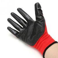 Нейлоновые перчатки с нитриловым покрытием, 12 пар, цвет красный (2)
