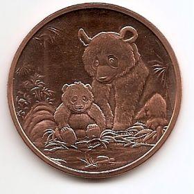 Панды  США Монетовидный жетон