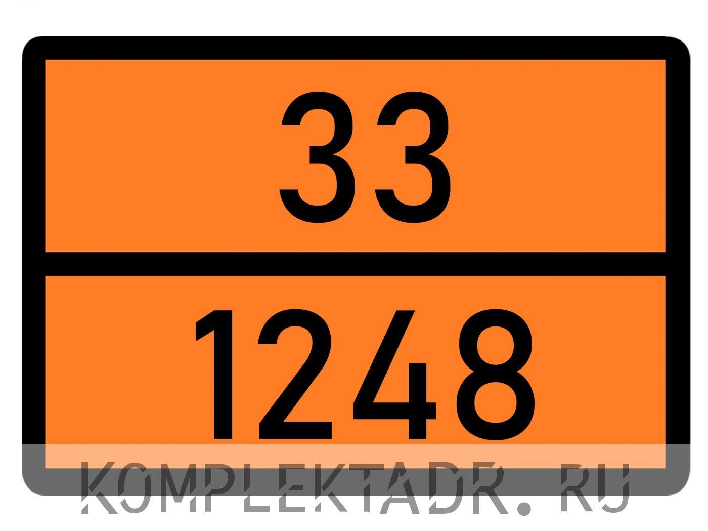 Табличка 33-1248