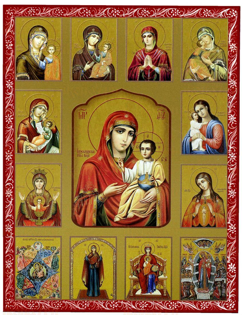 Собор Богородичных икон (красная рамка)