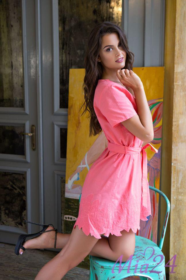 Платье Mia-Mia коралл M 16104 DSK
