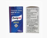 Зуриг (фебуксостат 40мг) от падагры Зидус Кадила 30 таблеток | Zydus Cadila Zurig Febuxostat 40mg 30 Tablets