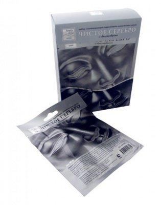 """Кристаллическая маска для лица """"Чистое Серебро"""" Beauty Style, 6 шт."""