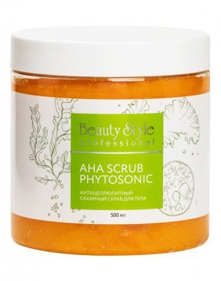 Плотный скраб с АНА-кислотами и сахарными гранулами для пилинга кожи тела 500 мл. Beauty Style