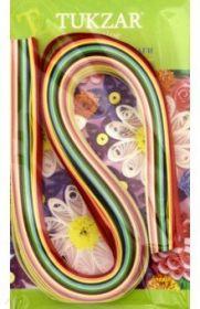 Набор цветных бумажных полосок для квиллинга, 120 штук, ширина 8 мм. (арт. TZ 12852)