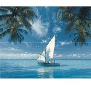 Ocean Sailboat Панно из 2-х плиток 40x50