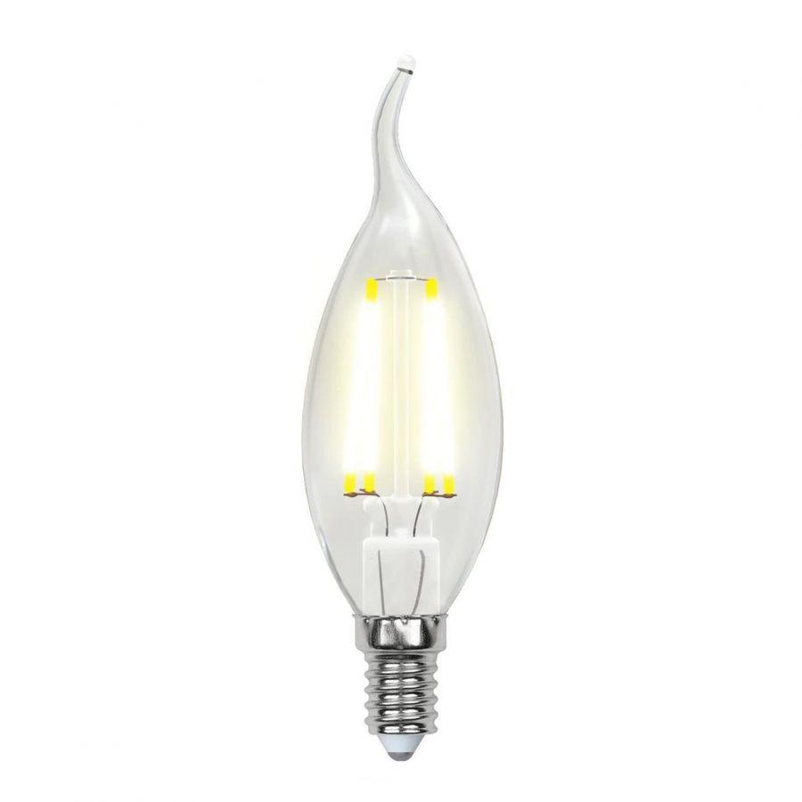 Лампа светодиодная филаментная (UL-00003248) E14 7,5W 3000K прозрачная LED-CW35-7,5W/WW/E14/CL GLA01TR