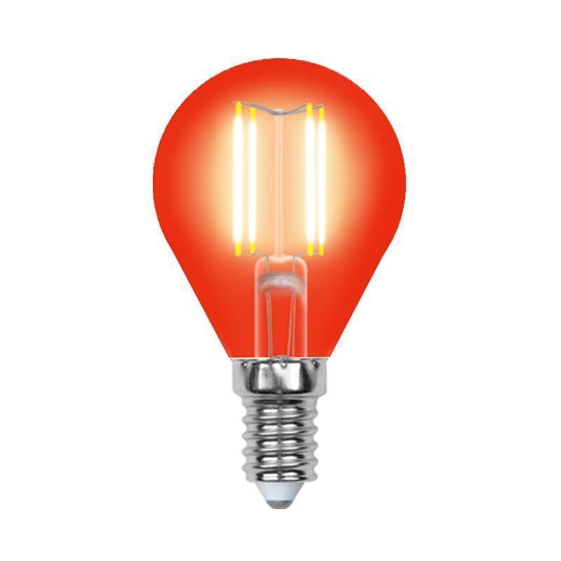 Лампа светодиодная (UL-00002985) E14 5W красный LED-G45-5W/RED/E14 GLA02RD
