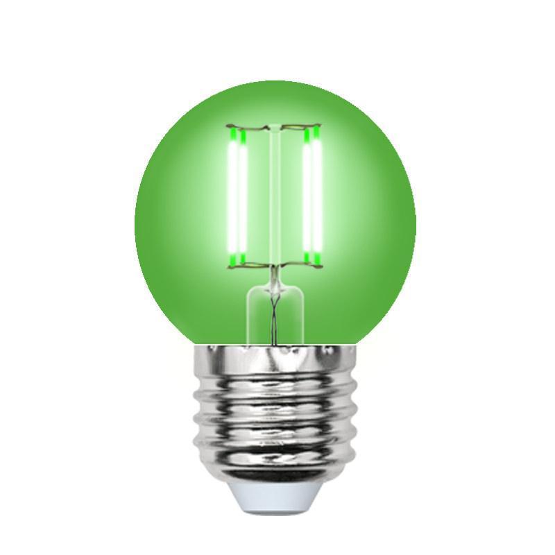 Лампа светодиодная (UL-00002988) E27 5W зеленый LED-G45-5W/GREEN/E27 GLA02GR