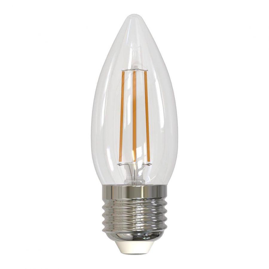 Лампа светодиодная филаментная диммируемая (UL-00003642) E27 5W 4000K прозрачная LED-C35-5W/NW/E27/CL/DIM GLA01TR