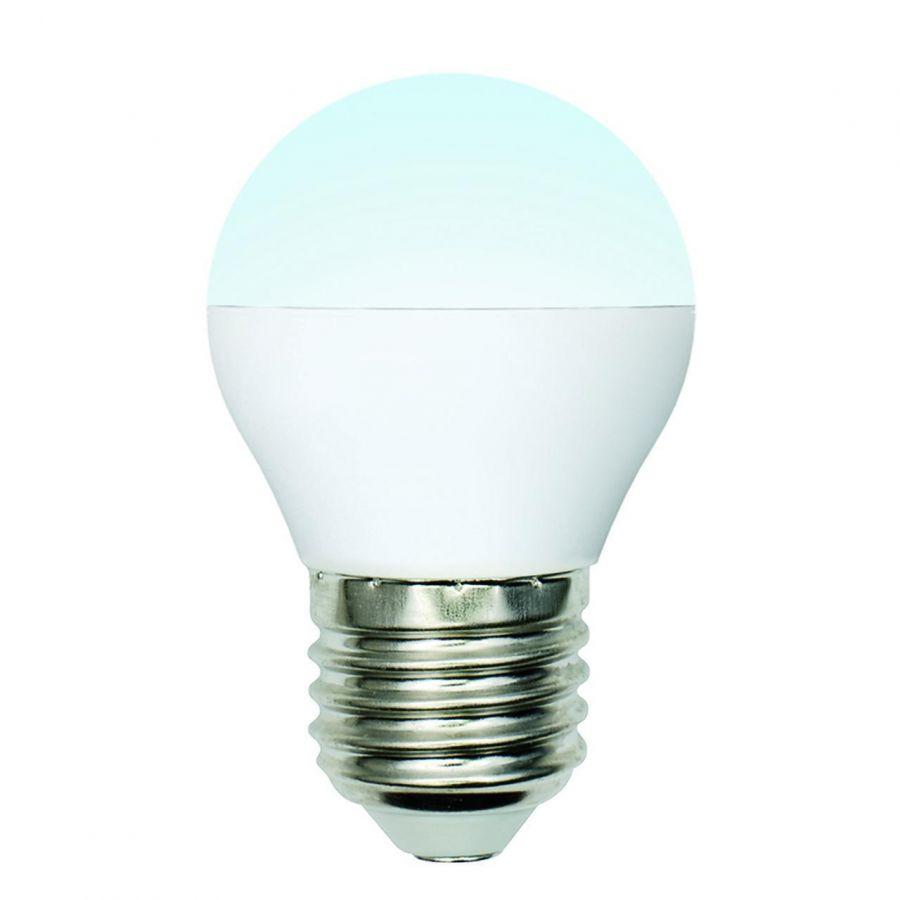 Лампа светодиодная (UL-00002378) Uniel E27 6W 4000K матовая LED-G45-6W/NW/E27/FR/MB PLM11WH