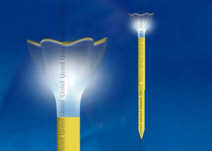 Светильник на солнечных батареях (10625) Uniel Promo USL-C-419/PT305 Yellow Crocus