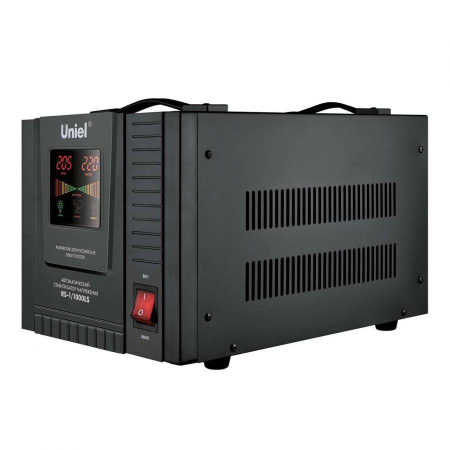 Стабилизатор напряжения (09497) Uniel 1000ВА RS-1/1000LS