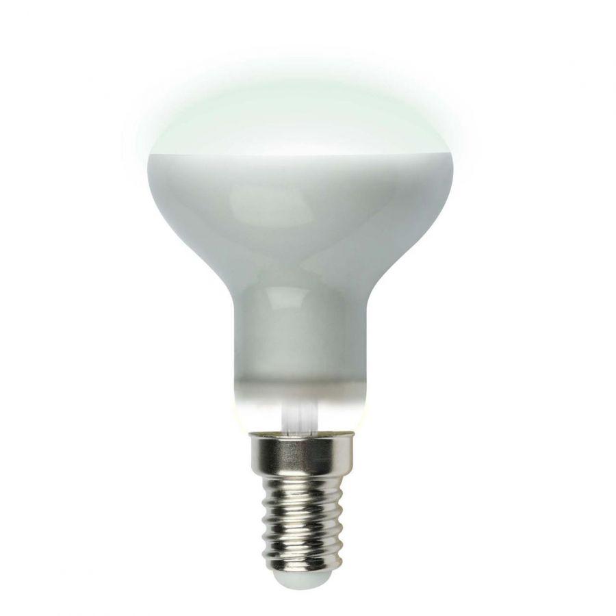 Лампа светодиодная рефлекторная (UL-00001492) Uniel E14 6W 4000K матовая LED-R50-6W/NW/E14/FR PLS02WH