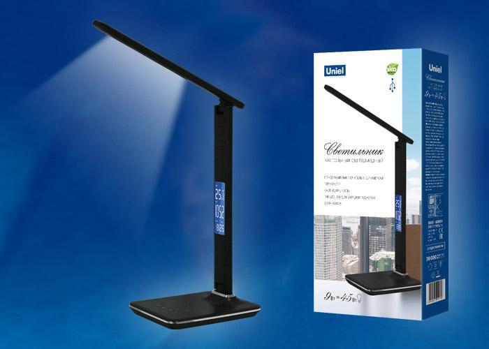 Настольная лампа (UL-00003335) Uniel TLD-551 Brown/LED/450Lm/3000-6000K/Dimmer/USB