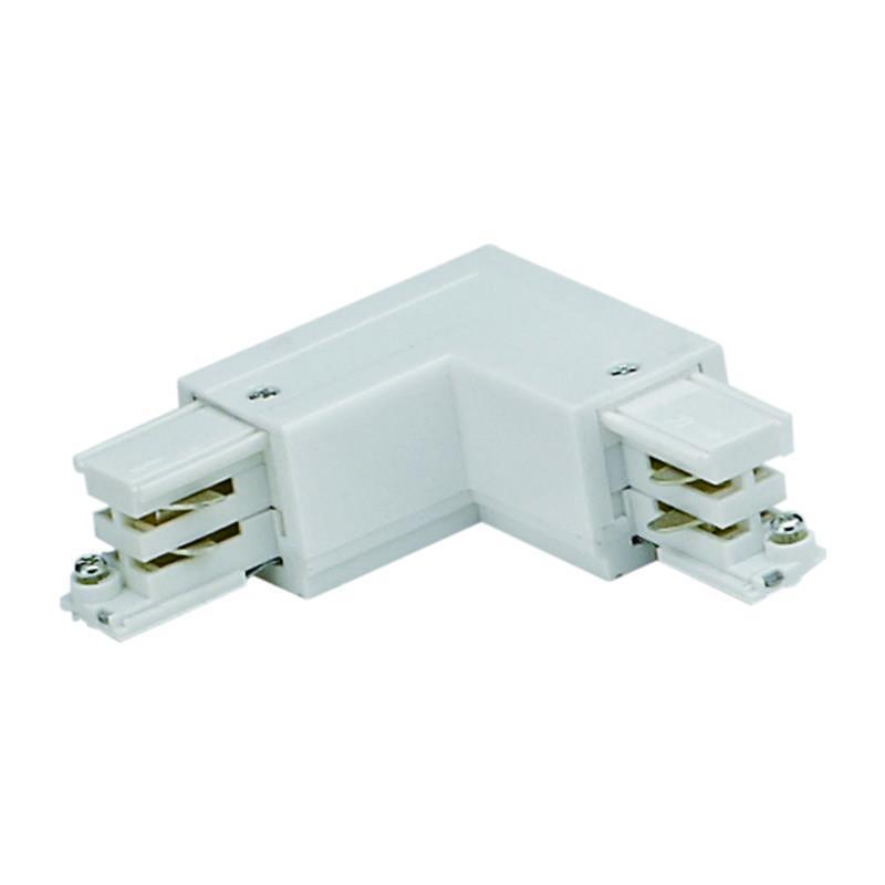 Соединитель для шинопроводов L-образный внешний (09764) Uniel UBX-A21 Silver