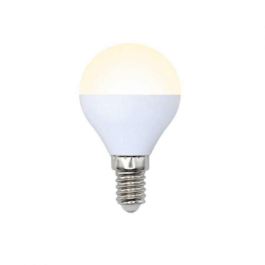 Лампа светодиодная (10217) E14 6W 3000K матовая LED-G45-6W/WW/E14/FR/O