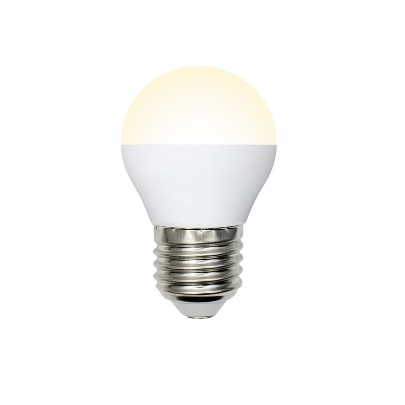 Лампа светодиодная (UL-00003829) E27 9W 3000K матовая LED-G45-9W/WW/E27/FR/NR