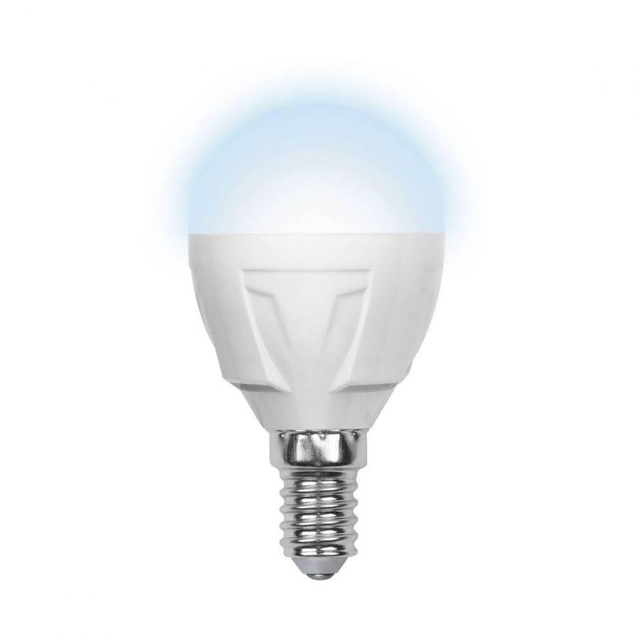 Лампа светодиодная (09455) E14 6W 4500K матовая LED-G45-6W/NW/E14/FR/S