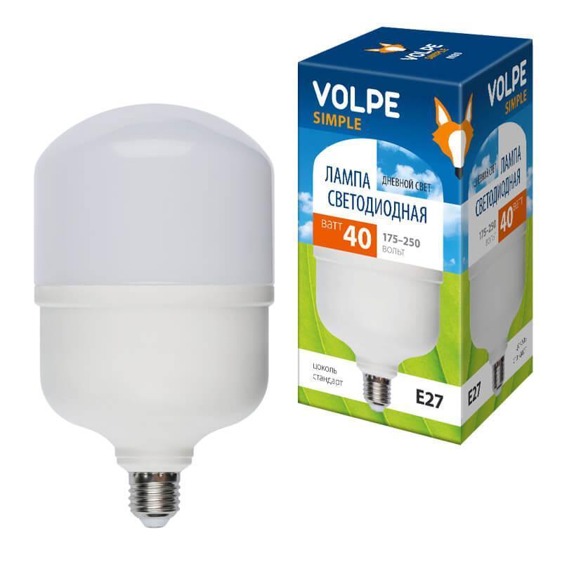 Лампа LED сверхмощная (UL-00002906) E27 40W (350W) 6500K LED-M80-40W/DW/E27/FR/S