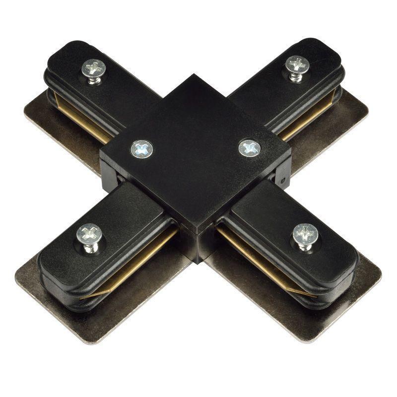 Коннектор X-образный (UL-00001282) Volpe UBX-Q121 K41 Black 1 Polybag