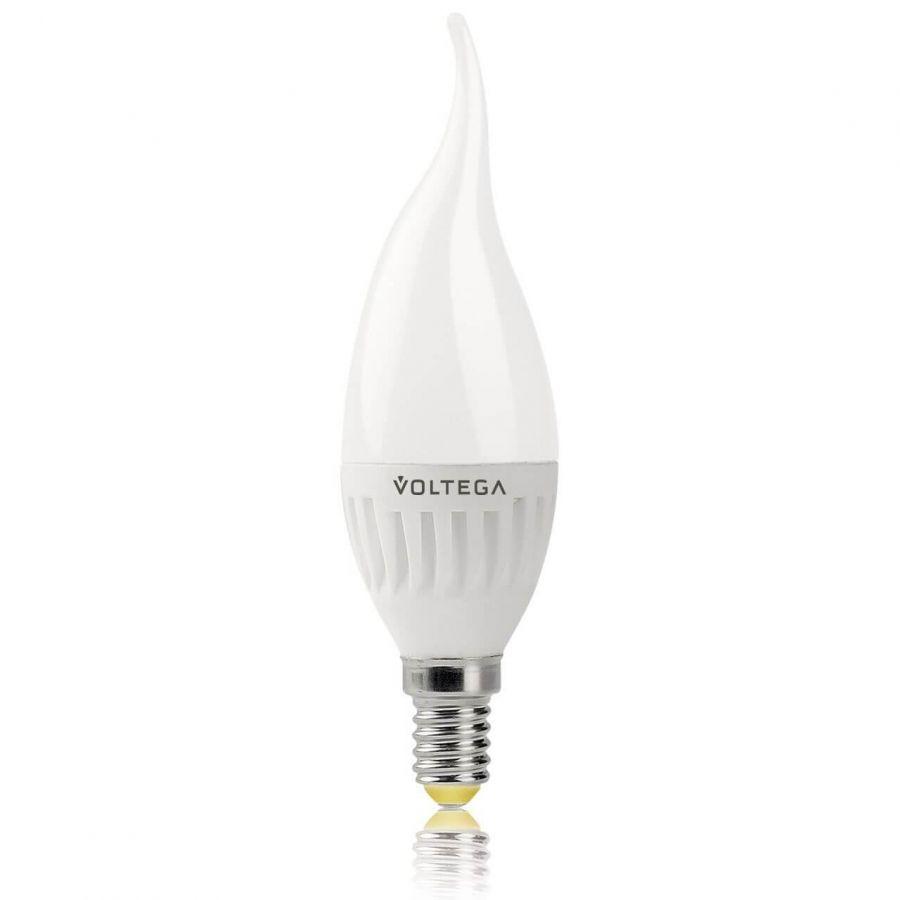 Лампа светодиодная Voltega E14 6W 2800К матовая VG1-CW2E14warm6W-C 5719