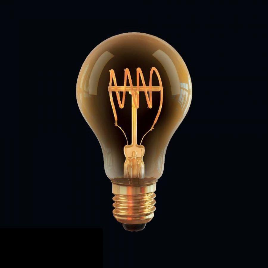 Лампа светодиодная диммируемая Voltega E27 4W 2800К прозрачная VG10-A60GE27warm4W-FB 7078