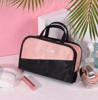 Дорожная косметичка со съёмным отделением Travel Bag, цвет Чёрно-розовый (2)