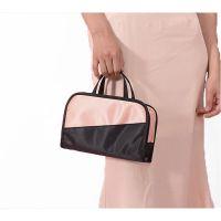 Дорожная косметичка со съёмным отделением Travel Bag, цвет Чёрно-розовый (4)