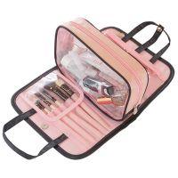 Дорожная косметичка со съёмным отделением Travel Bag, цвет Чёрно-розовый (7)