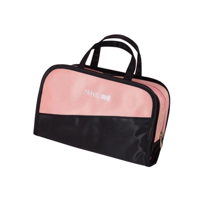 Дорожная косметичка со съёмным отделением Travel Bag, цвет Чёрно-розовый