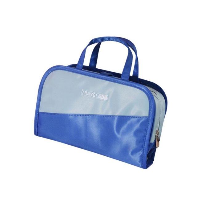 Дорожная Косметичка Со Съёмным Отделением Travel Bag, Цвет Сине-Голубой