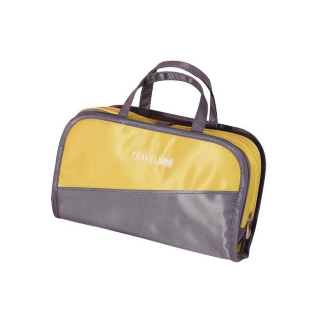 Дорожная косметичка со съёмным отделением Travel Bag, цвет Серо-жёлтый