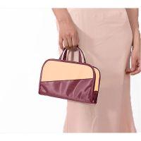 Дорожная косметичка со съёмным отделением Travel Bag, цвет Бордово-бежевый (3)