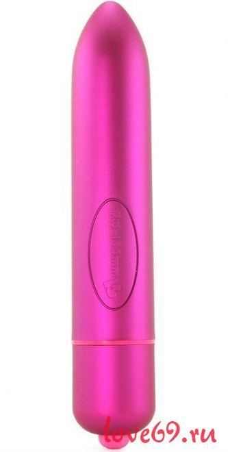 Ярко-розовый вибратор RO-160 - 16 см.