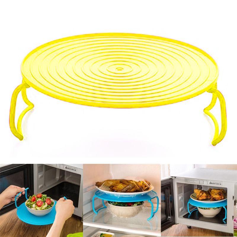 Многофункциональная Подставка Для Подогрева Блюд В Микроволновке, 23 См, Цвет Желтый