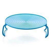 Многофункциональная подставка для подогрева блюд в микроволновке, 23 см, цвет голубой (2)