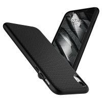 Купить чехол Spigen Liquid Air Armor для iPhone XR черный тонкий чехол для Айфон XR в Москве в интернет магазине аксессуаров для смартфонов elite-case.ru