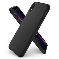 Купить чехол Spigen Silicone Fit для iPhone XR черный чехол для Айфон XR в Москве в интернет магазине аксессуаров для смартфонов elite-case.ru