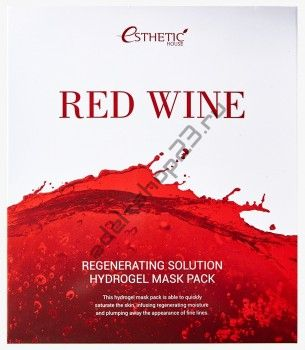 ESTHETIC HOUSЕ - Гидрогелевая маска RED WINE REGENERATING SOLUTION HYDROGEL MASK PACK