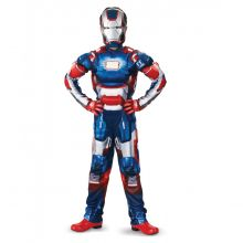 Костюм Железный человек с мускулатурой синий