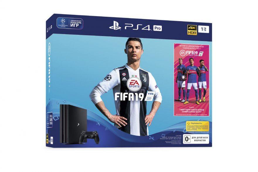 Игровая приставка Sony Playstation 4 Pro 1TB (CUH-7108B) + Fifa 19