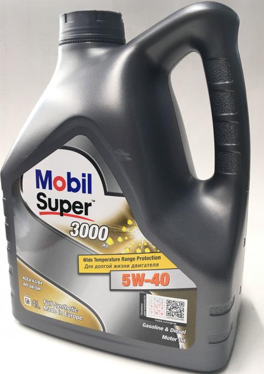 Масло моторное Mobil Super 3000 5W40 4л