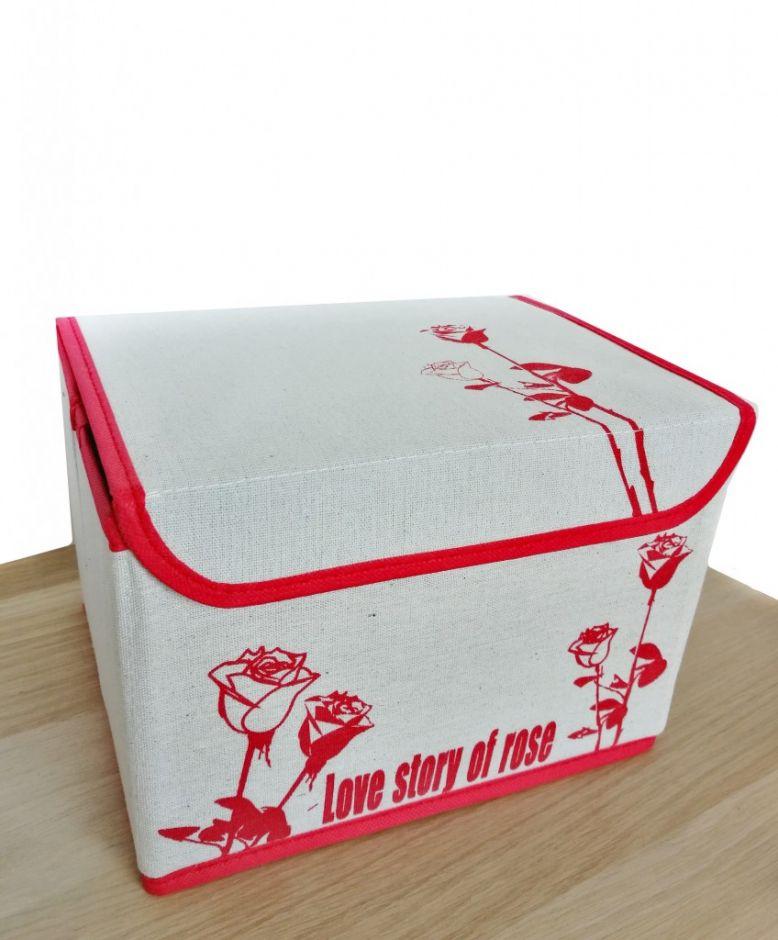 Мини-короб для хранения вещей Love Story Of Rose, 25,5х19х17 см