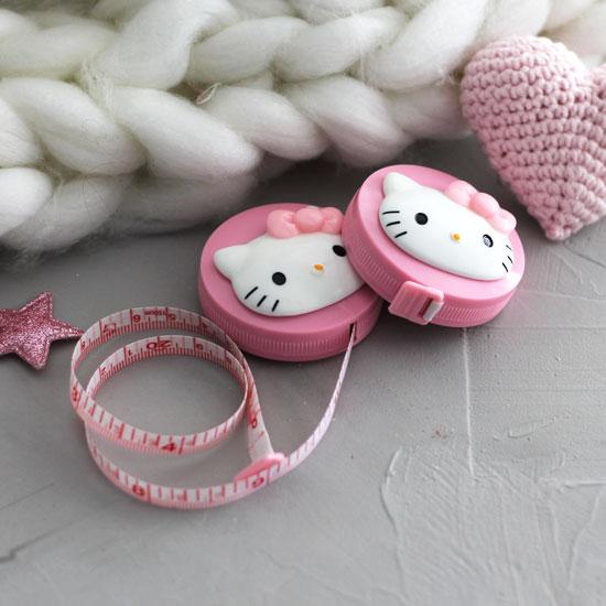 Инструменты для куклоделия - Рулетка сантиметровая Hello Kitty