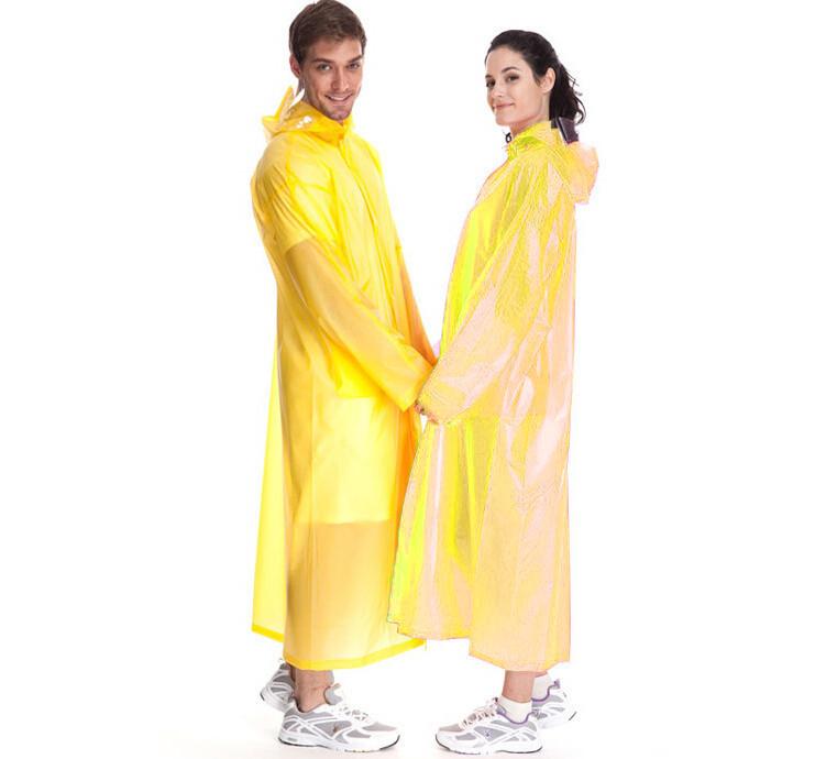 Виниловый плащ-дождевик для взрослых, цвет желтый