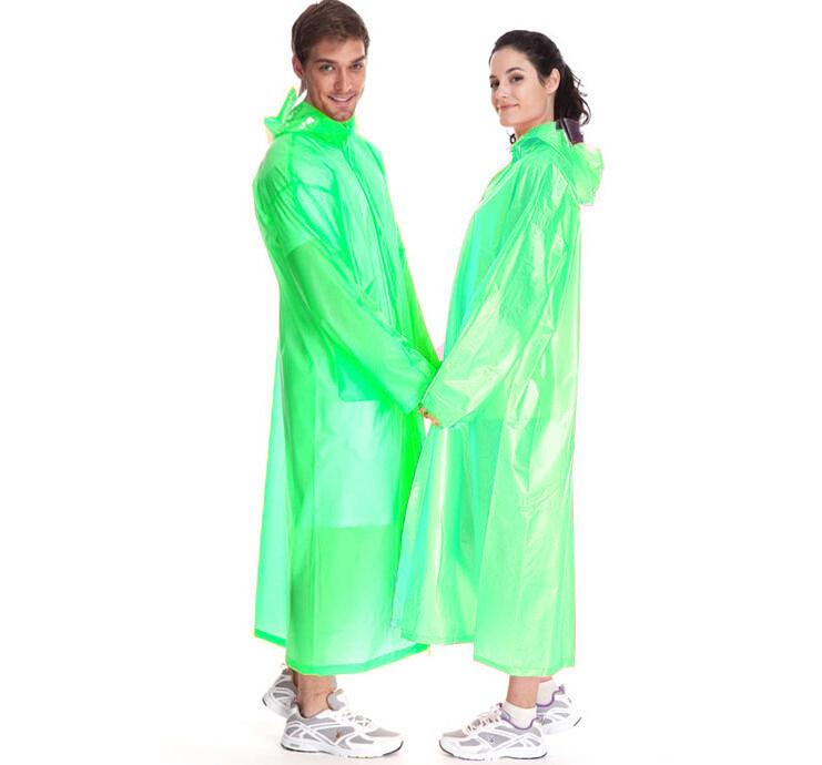 Виниловый плащ-дождевик для взрослых, цвет зеленый